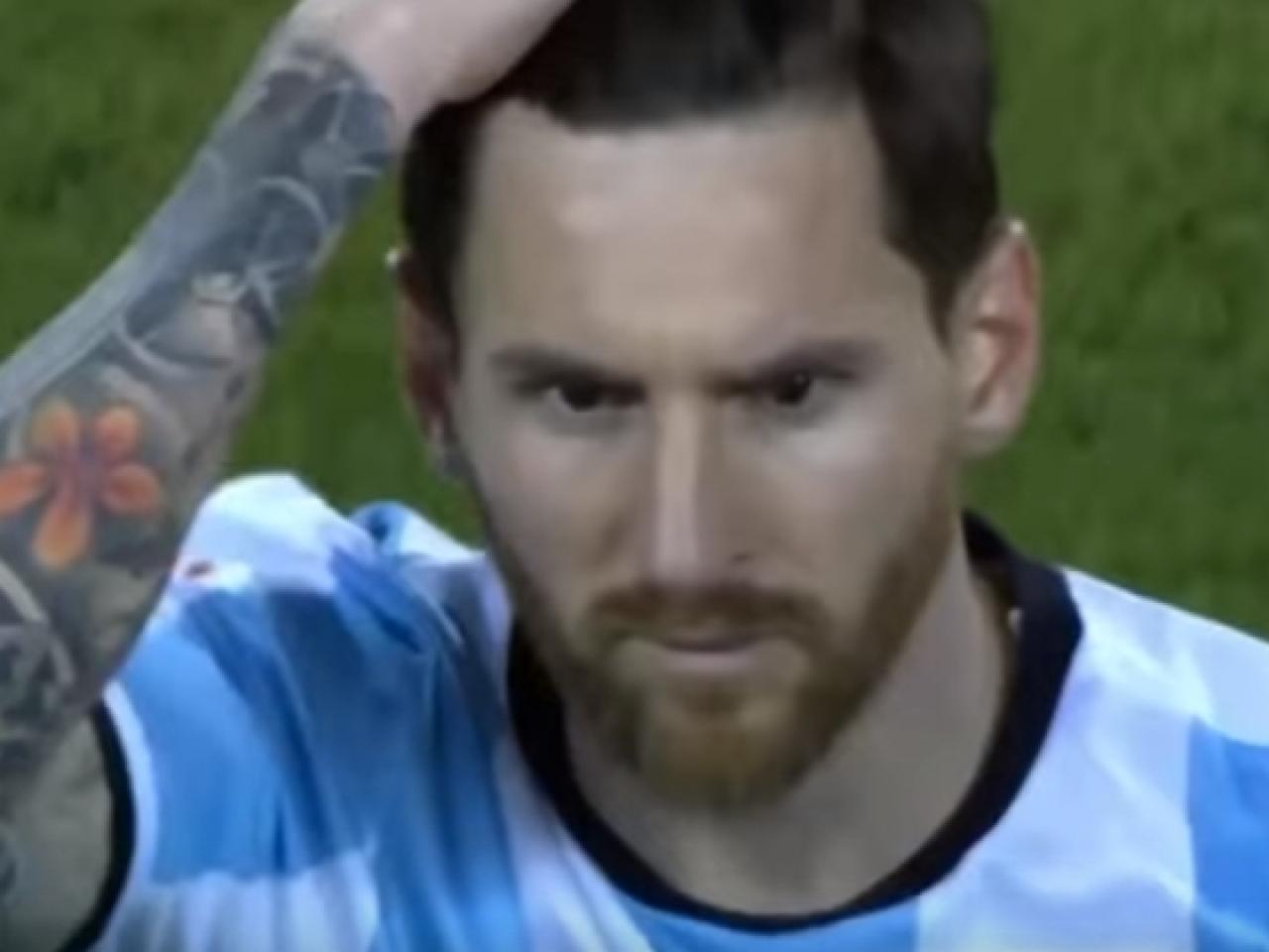 O choro de Messi