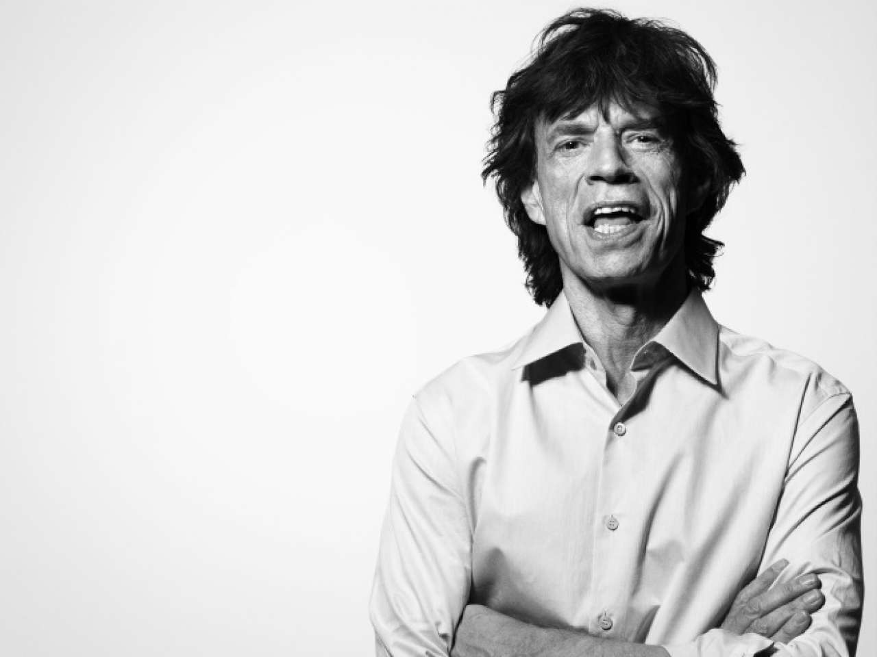 Mick Jagger na boca do povo